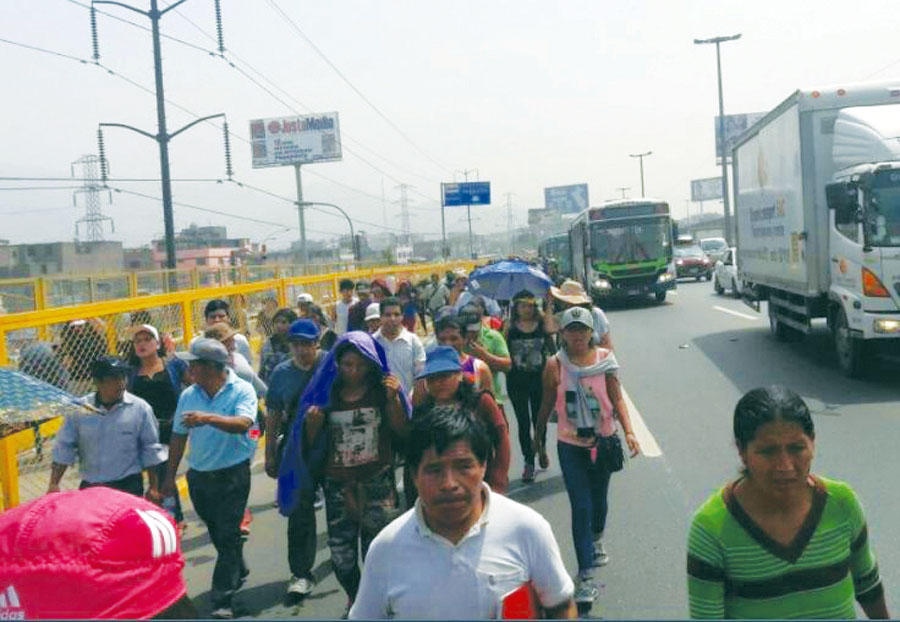 Chosicanos marchan