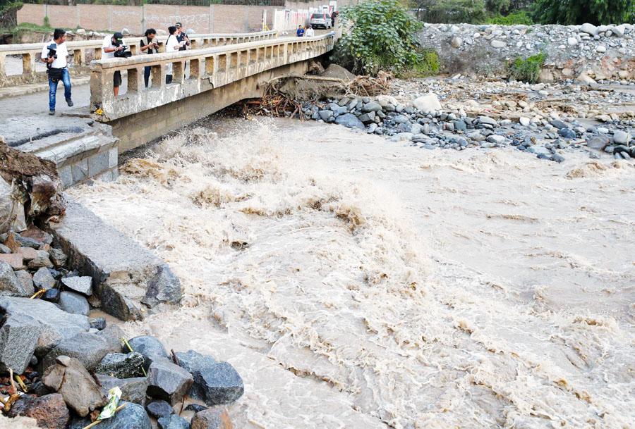Desborde del río Rímac