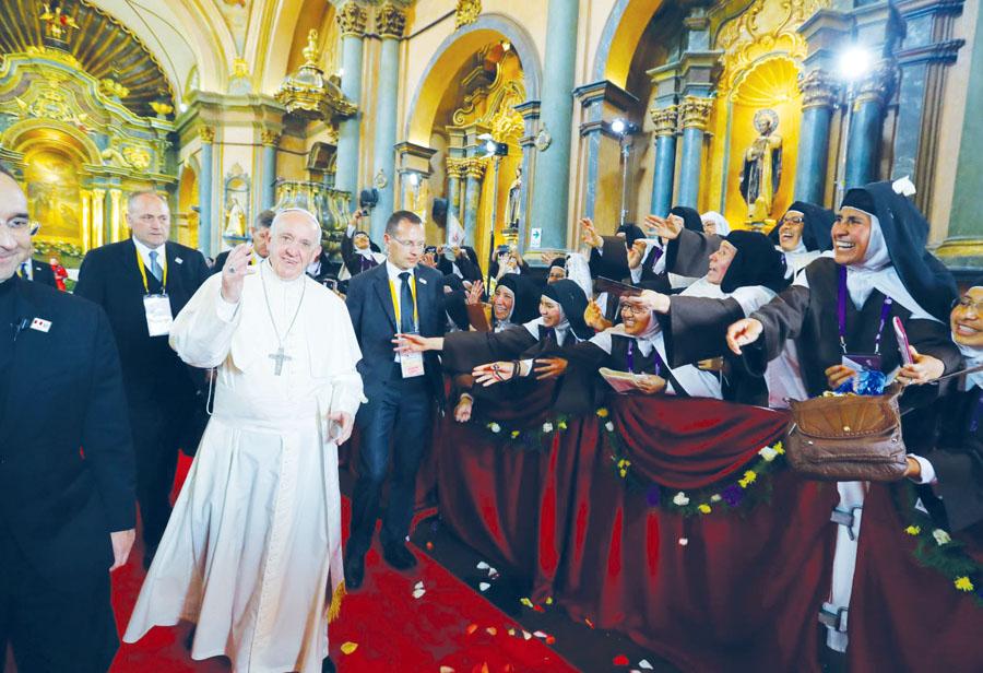 Papa Fracisco en Las Nazarenas