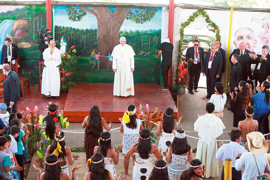 Santo Padre en el hogar de niños 'El Principito'