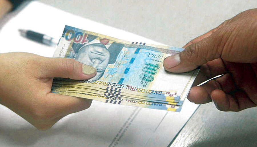 uso de dinero en efectivo