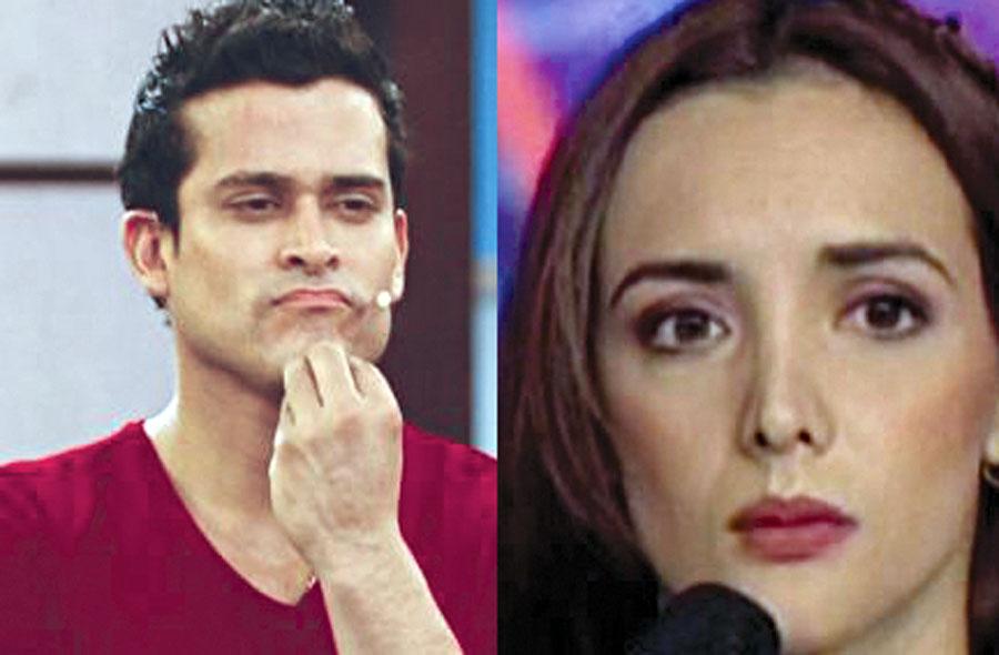 Christian Domínguez y Rosángela Espinoza