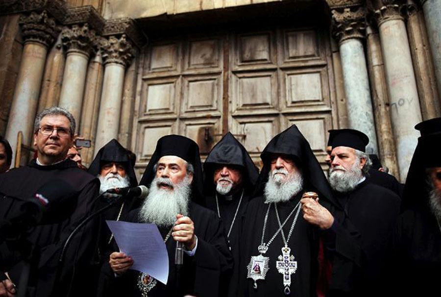 Cierran el Santo Sepulcro