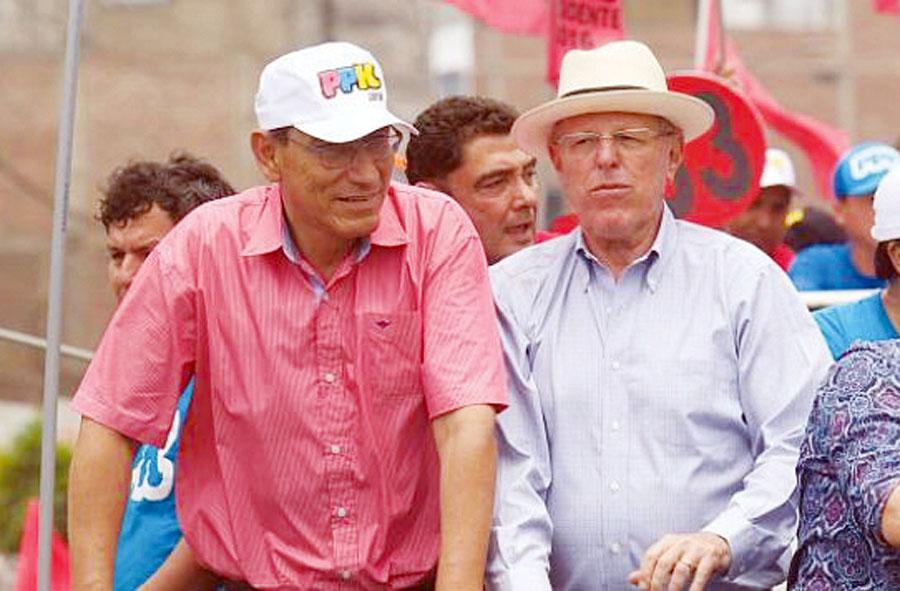 Martin Vizcarra y Pedro Pablo Kuczynski