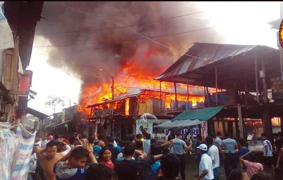Incendio en Belén