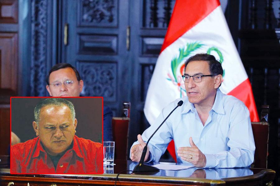 Martín Vizcarra y Diosdado Cabello