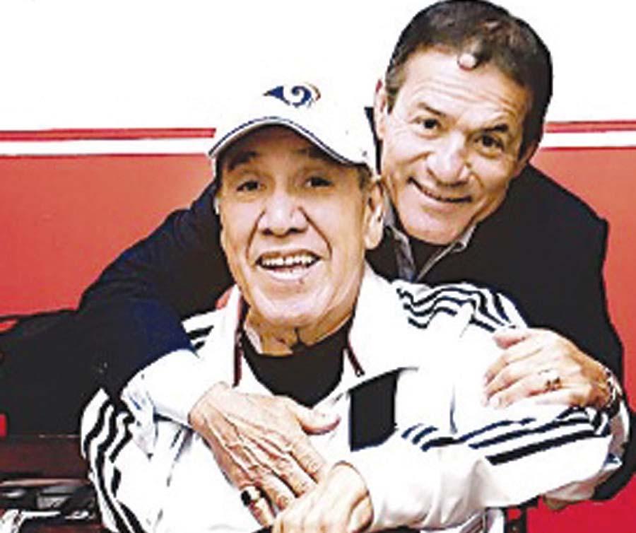 'Gordo' Cassareto con su entrañable amigo, cómplice y colega Miguel 'Chato' Barraza