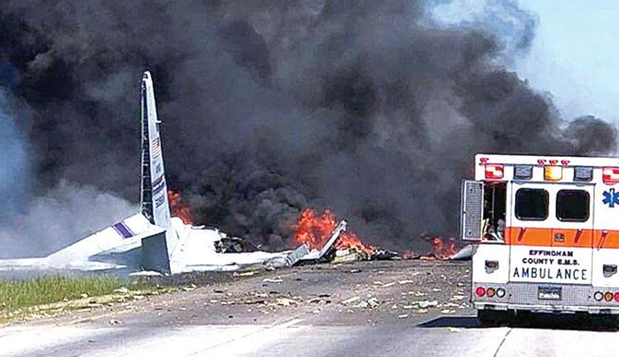 Accidente aereo avión militar