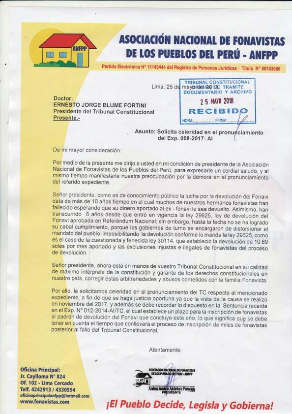 Carta de Fonavistas