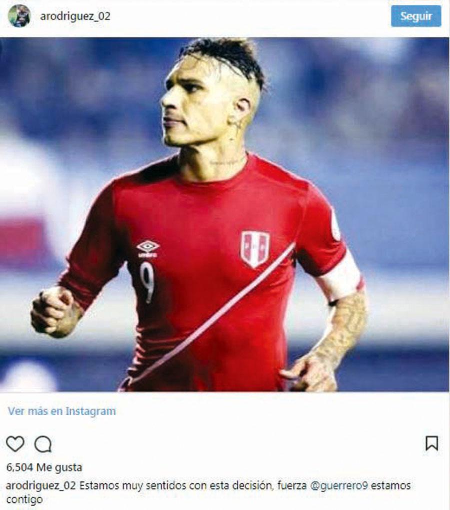 Paolo Guerrero apoyo