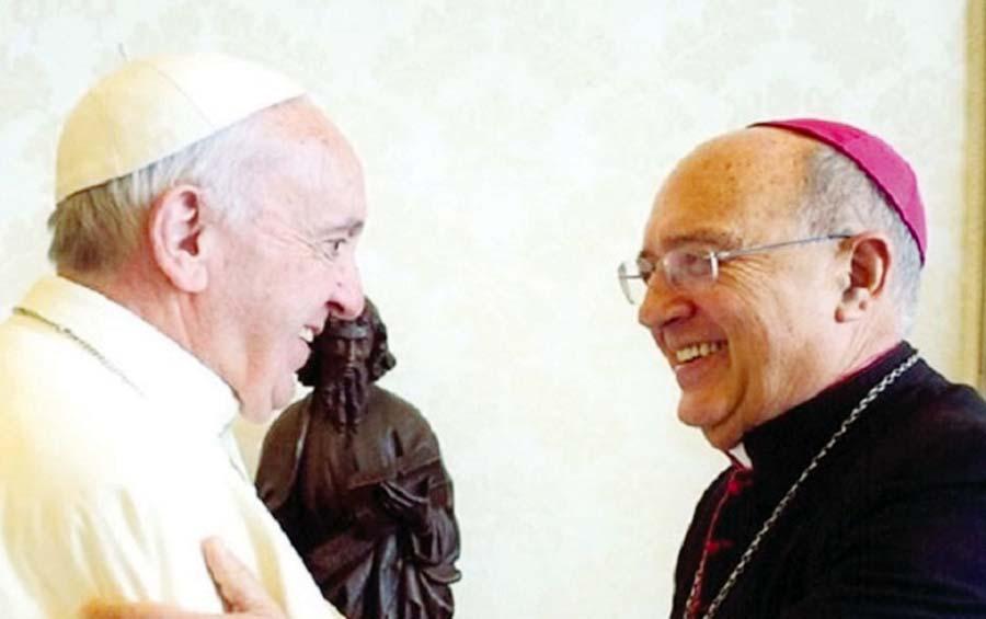 Papa Francisco y Cardenal Barreto