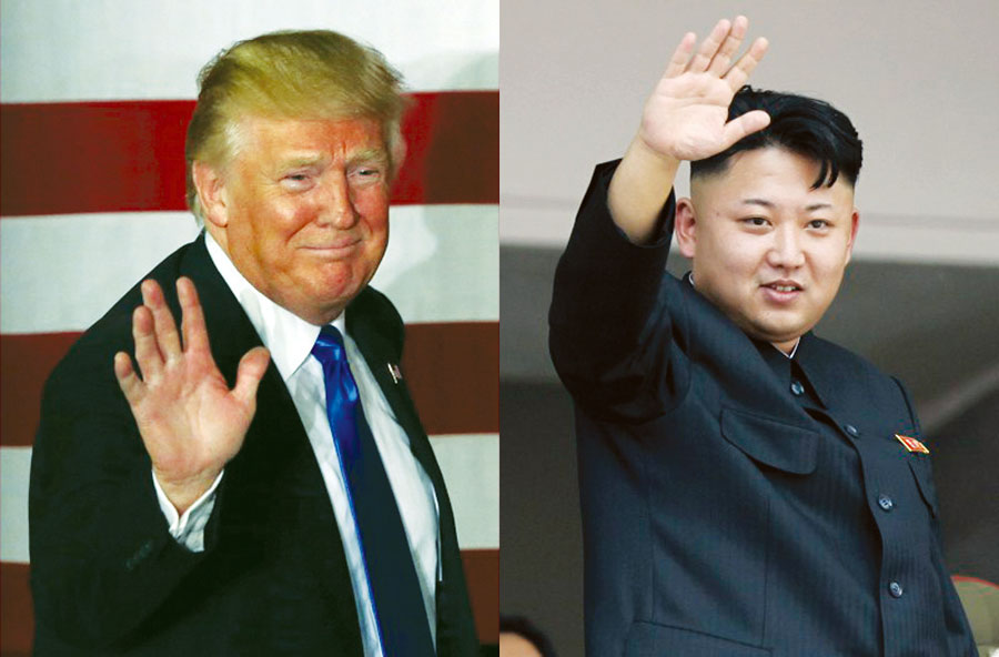 Presidente estadounidense Donald Trump y líder Kim Jong-un