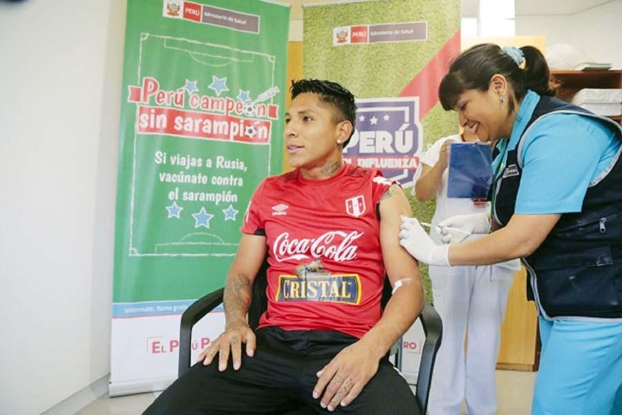 """Selección en campaña """"Perú campeón sin sarampión"""""""