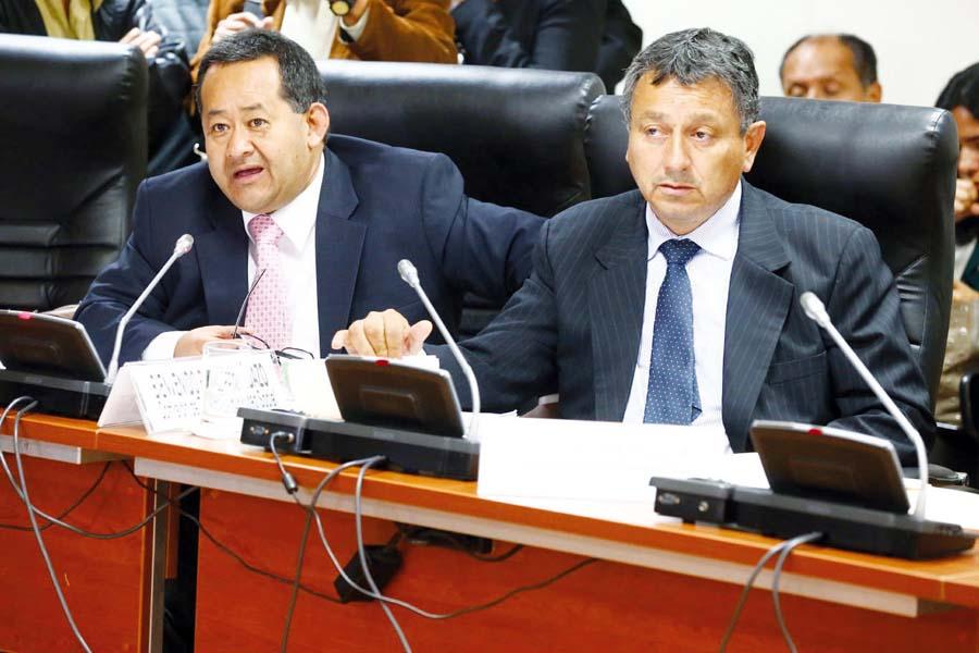 Bienvenido Ramírez y Guillermo Bocangel