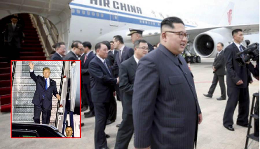 El líder norcoreano Kim Jong-Un y el presidente de los Estados Unidos, Donald Trump