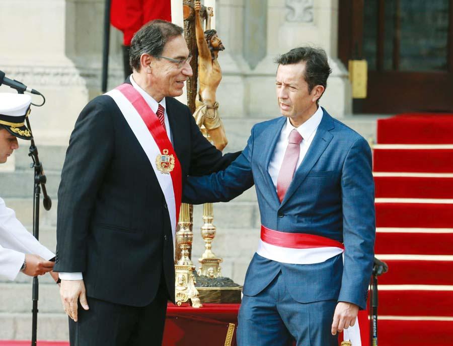 Presidente Martín Vizcarra y David Tuesta
