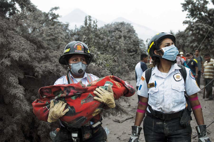 Victimas del Volcán de Fuego