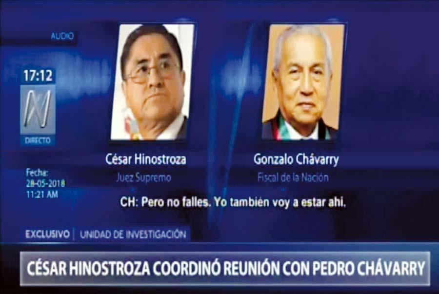 César Hinostroza con Pedro Chávarry