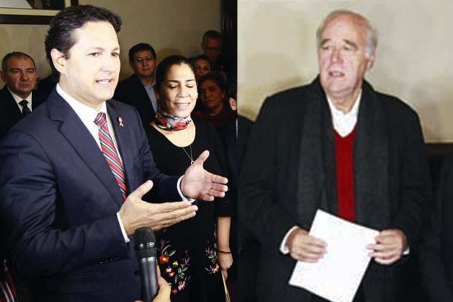 Daniel Salaverry (Fuerza Popular) y Víctor Andrés García Belaunde (Acción Popular)