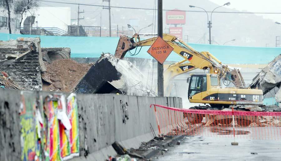Desvios por demolición de puente Circunvalación