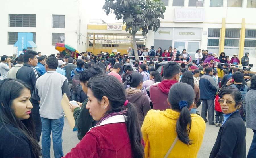 Escolares intoxicados por desayuno de Qali Warma