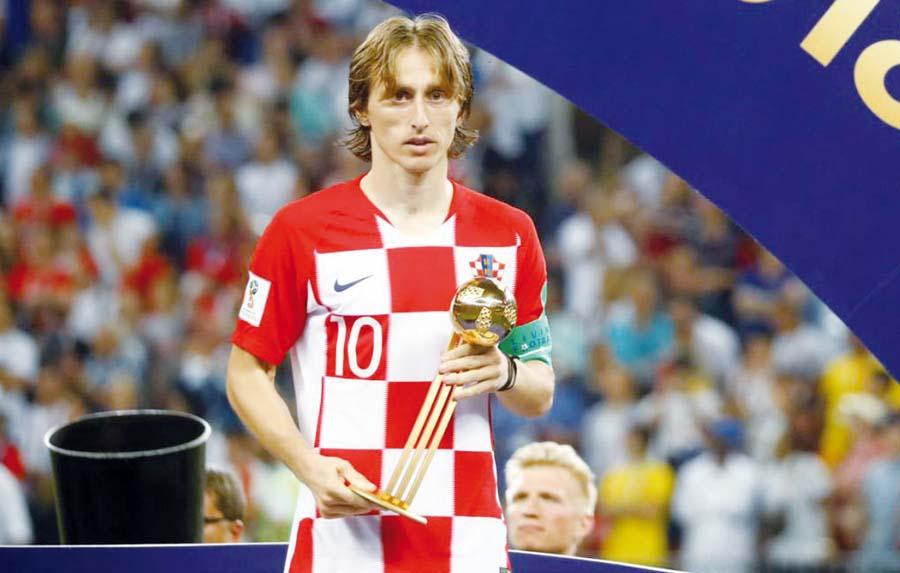 Luka Modric, elegido como el mejor jugador de Rusia 2018