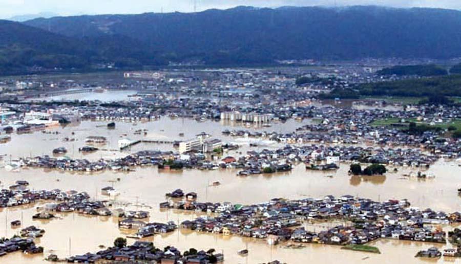 Lluvias torrenciales en Japon