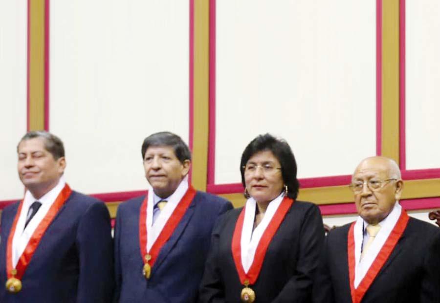 Magistrados Manuel Miranda, Marianella Ledesma, Carlos Ramos y Eloy Espinosa-Saldaña