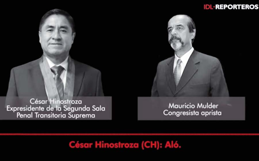 Mauricio Mulder con César Hinostroza