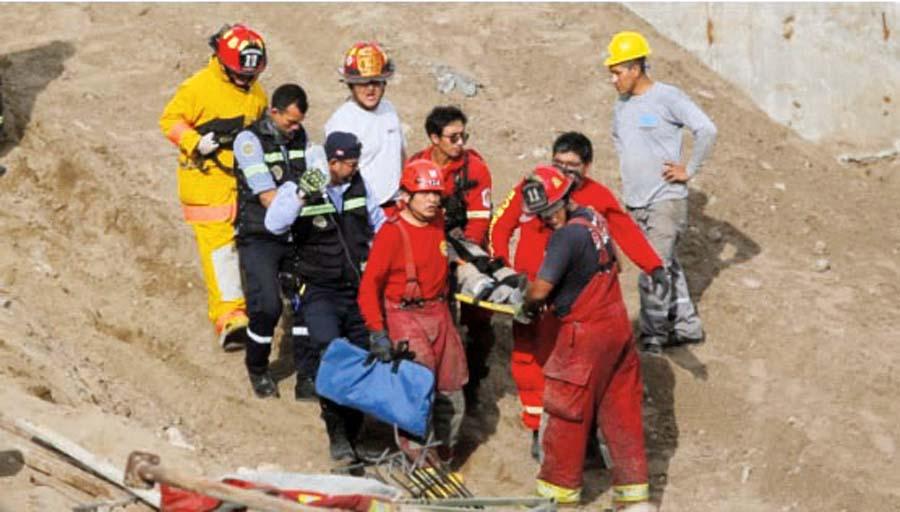 trabajador resultó gravemente herido