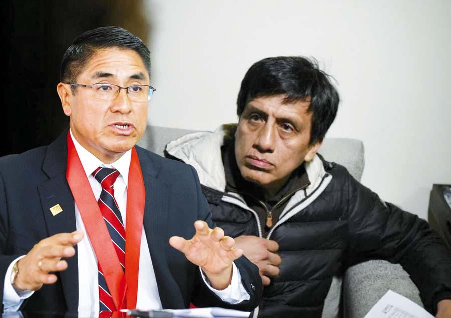 César Hinostroza y el empresario Antonio Camayo
