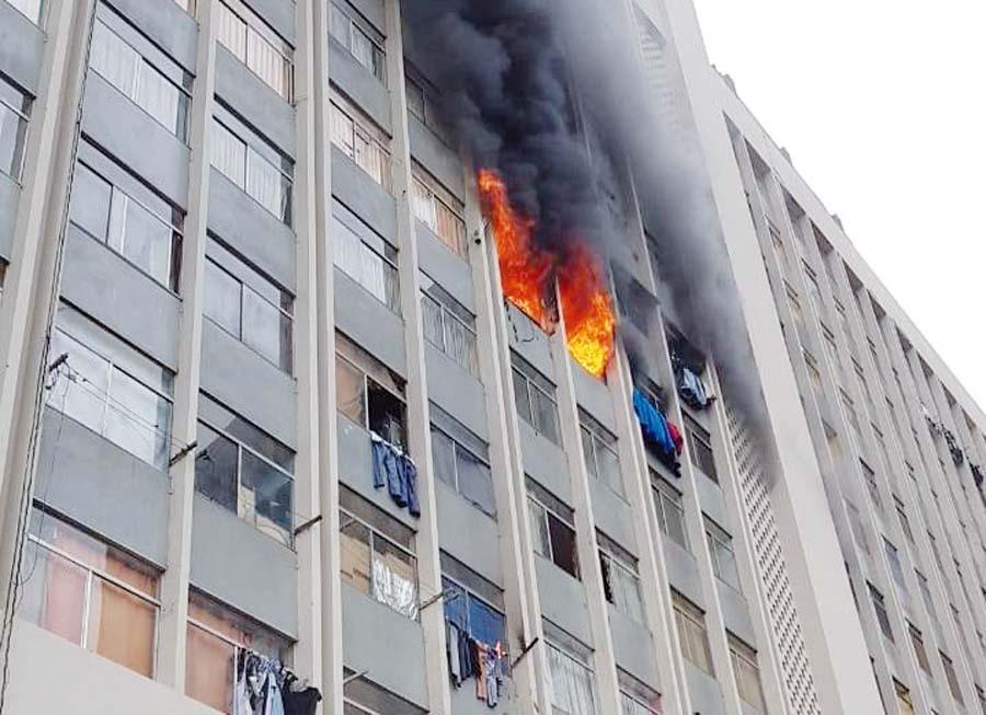 Incendio en la avenida Abancay