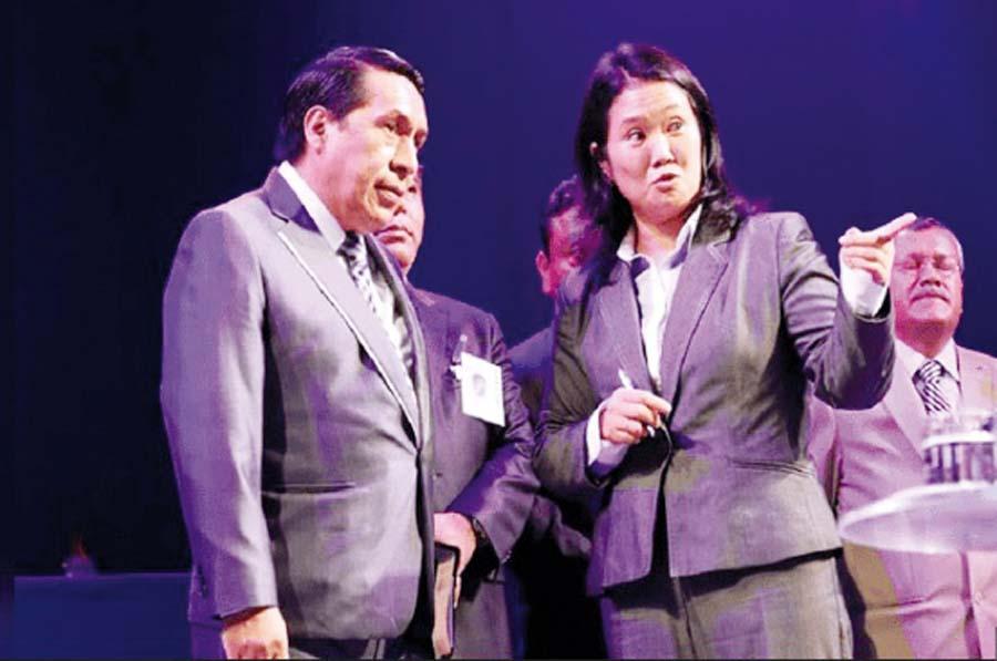 Alberto Santana y Keiko Fujimori
