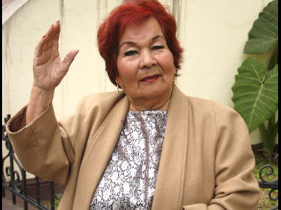 Cantante Julia Rosa Capristán García, conocida como Carmencita Lara