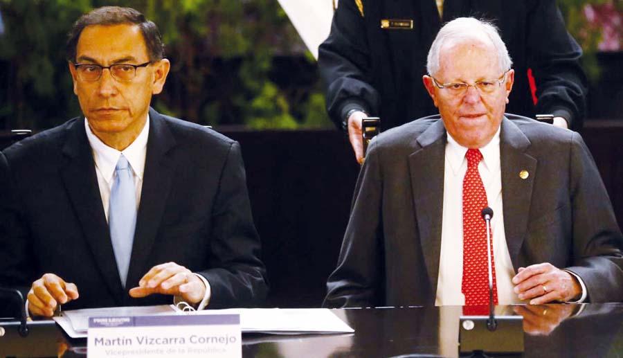 Expresidente Pedro Pablo Kuczynski y el presidente Martín Vizcarra
