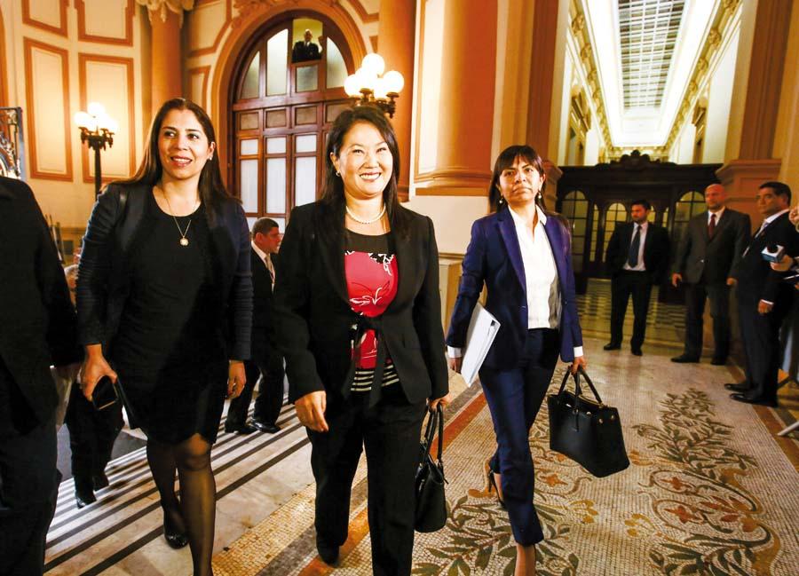 La lideresa de Fuerza Popular, Keiko Fujimori
