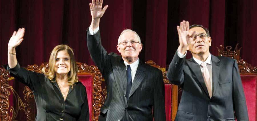 Mercedes Aráoz, Martín Vizcarra y Pedro Pablo