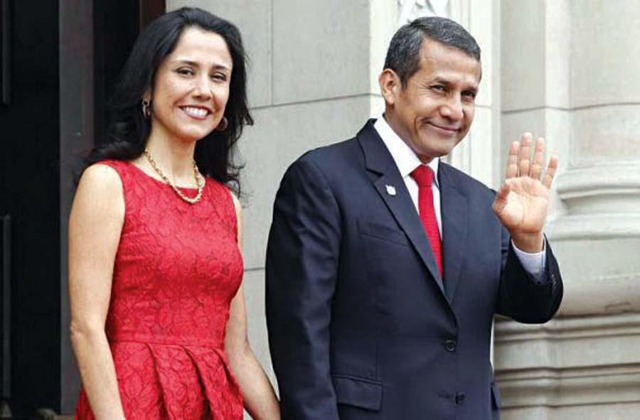 Ollanta Humala y su esposa, Nadine Heredia