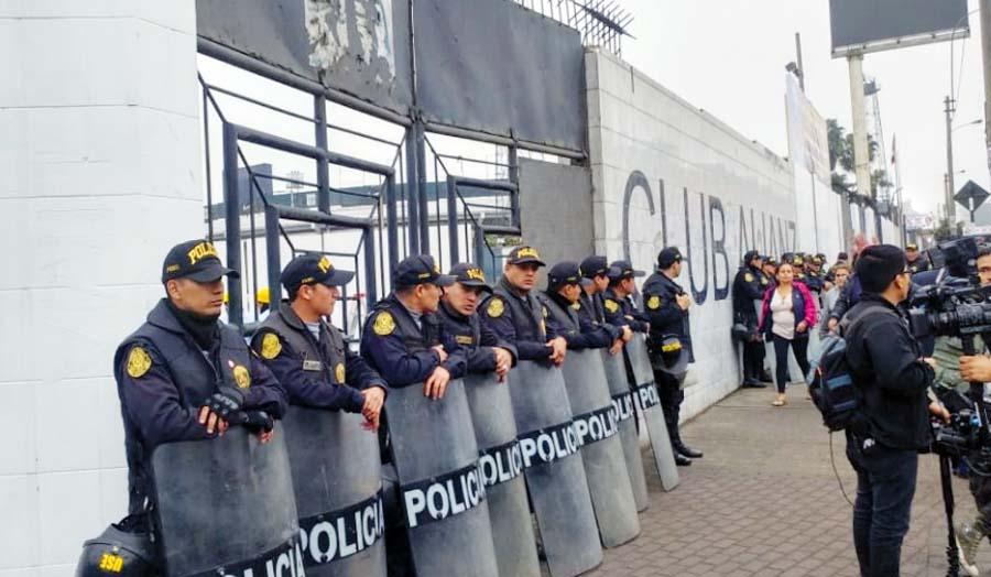 Policia en el Matute