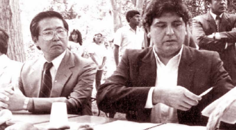 Alberto Fujimori y Alan García