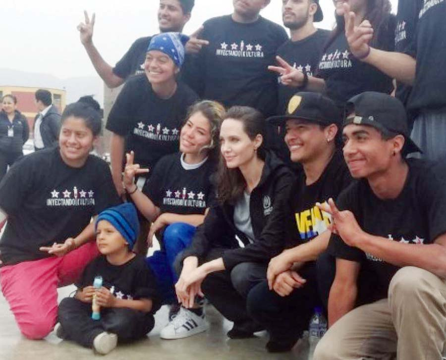 Angelina Jolie llegó a San Juan de Lurigancho