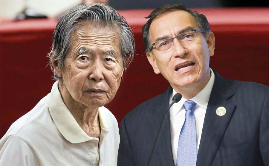 Martín Vizcarra y Alberto Fujimori