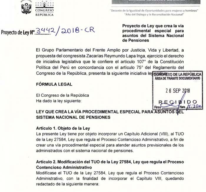 Proyecto de Ley 3442-2018-cr