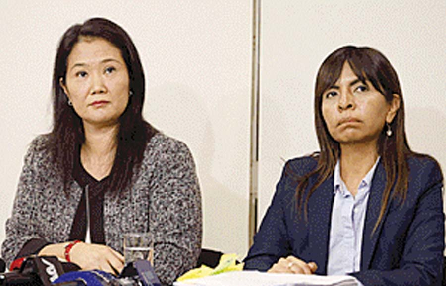 Abogada Giulliana Loza, defensa de Keiko Fujimori