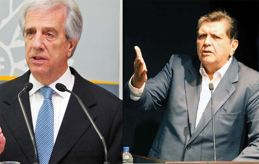 Alan García y el actual presidente de Uruguay, Tabaré Vásquez