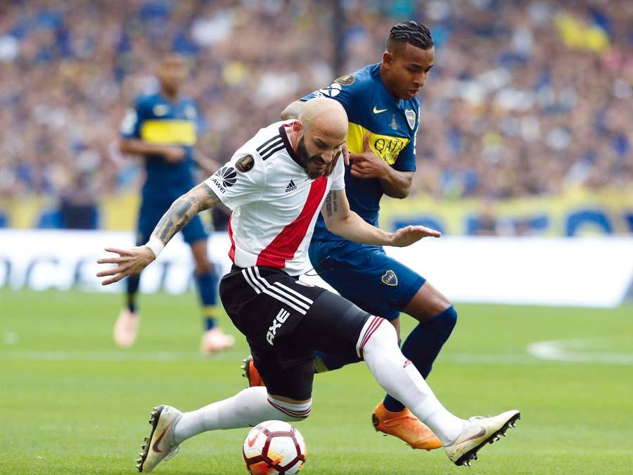 Boca Juniors y River Plate igualaron 2-2