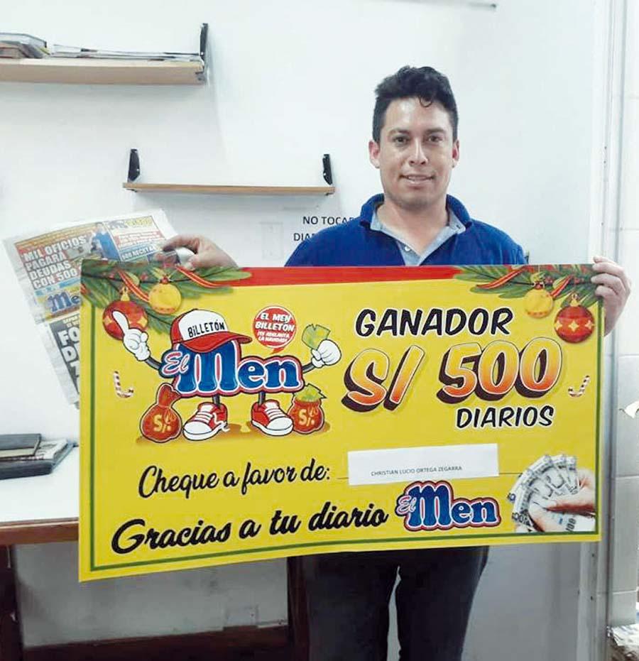 Christian Lucio Ortega Zegarra fue el segundo ganador de nuestra promoción 'El Men Billetón'