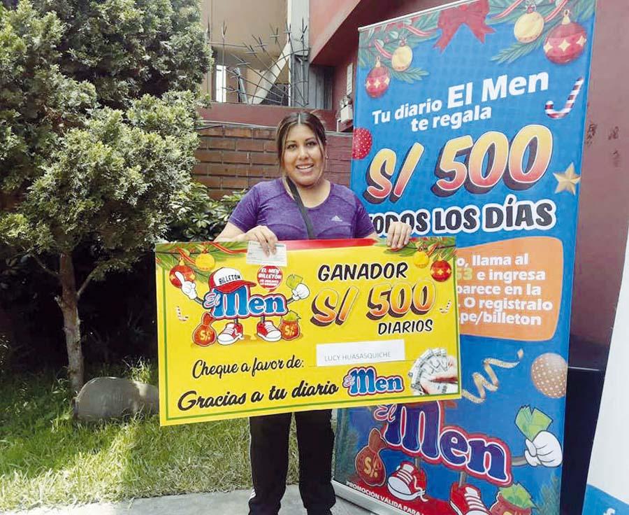 Lucy Huasasquiche Julca se convirtió en la tercera ganadora de 'El Men Billeton'