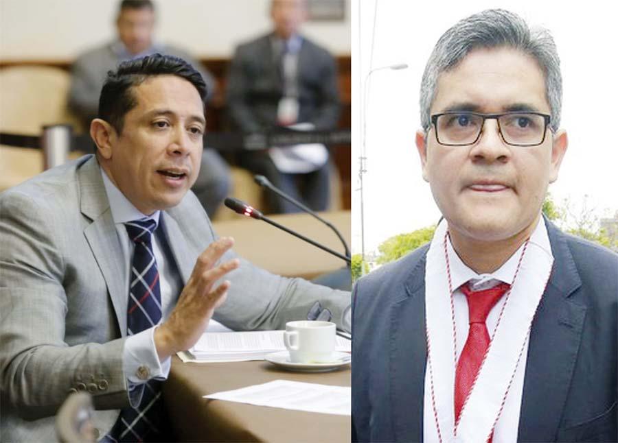 Miguel Castro Grández y el fiscal José Domingo Pérez Gómez