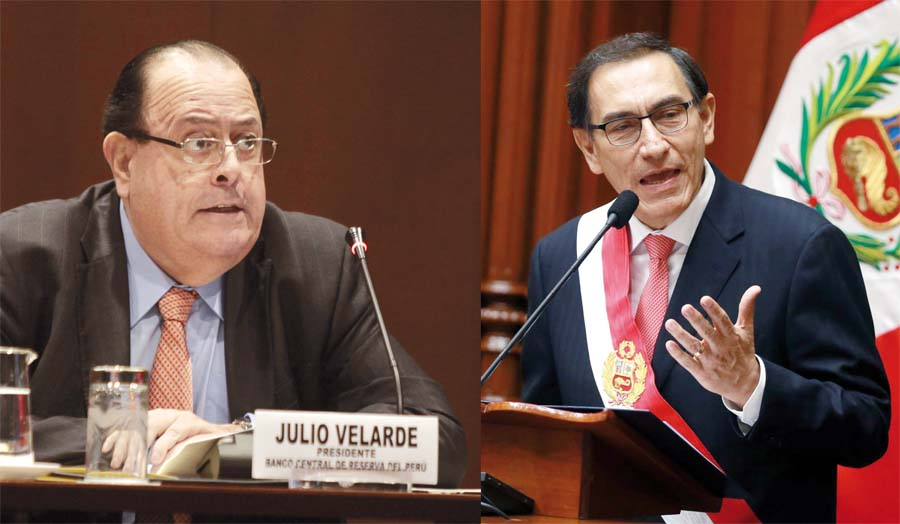 Presidente del Banco Central de Reserva del Perú (BCRP), Julio Velarde criticó el plan de gobierno del presidente de la República, Martín Vizcarra